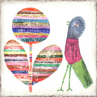 Small Art Print - Flower and Bird