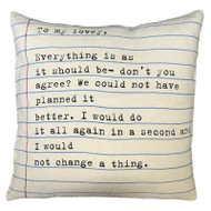 To My Lovey Letter Pillow