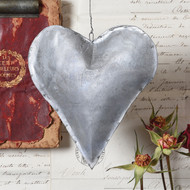 Galvanized Hearts - set of 3