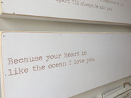"""Love Letter Art - """"Because your heart.."""""""