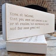 "Love Letter Art - ""Know oh beloved.."""