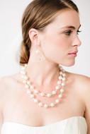 Pearl and Crystal Drop Earrings