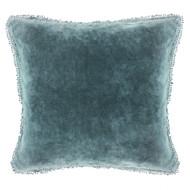 Indigo Velvet Pillow with PomPom
