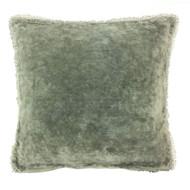 Sage Velvet Pillow with PomPom