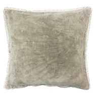 Sand Velvet Pillow with PomPom