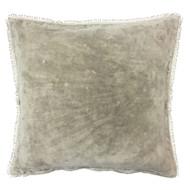 Sand Velvet Pillow with PomPom