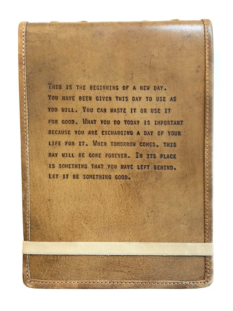 Leather Journal This Is The Beginning Quote Lovefeast Shop