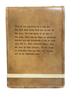 Leather Journal -This is the Beginning Quote