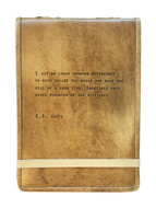 Leather Journal - E.B. White Quote