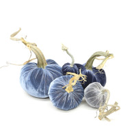 Velvet Pumpkin Large Set - Blues