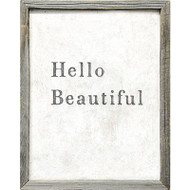 Hello Beautiful Framed Art Print