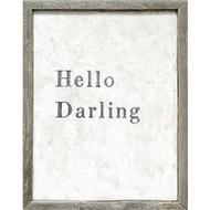 Hello Darling Framed Art Print