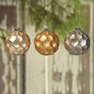 Honeycomb Glass Ornaments - Set of 3