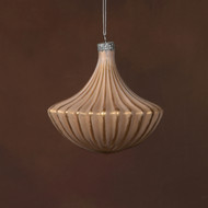 Glass Chandelier Ornament - Rose Gold and Gold