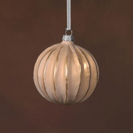 Glass Sphere Ornament - Rose Gold and Gold