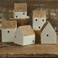Ceramic Cottages - Set of 5