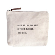 "Coco Chanel ""Don't be like the rest of them..."" - Canvas Bag"