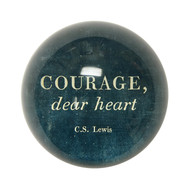 "Set of 2 ""Courage Dear Heart"" Paperweights"