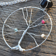 Mother's Tree Of Life Necklace Silver