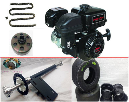 complete gas rear axle kit gas trike