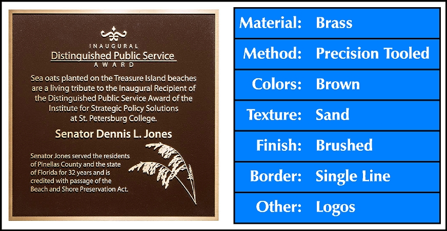 cast-brass-plaque-brushed-single-line-border-brown-sand-texture-logo-blue.jpg