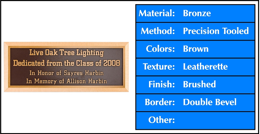 cast-bronze-brushed-single-line-wide-bevel-border-brown-leatherette-blue.jpg