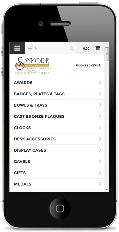 saymore trophy online shopping mobile devices