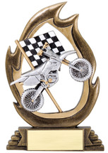 motorcylce resin trophy