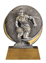 basketball resin trophy