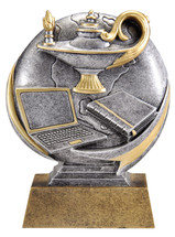 lamp of knowledge resin trophy