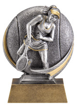 tennis resin trophy