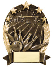 bowling resin trophy