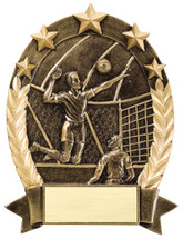 volleyball resin trophy