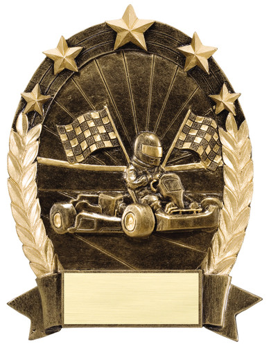 gokart resin trophy