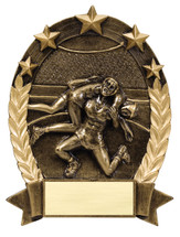 wrestling resin trophy