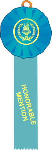 Honorable Mention Stock Single Rosette Ribbon