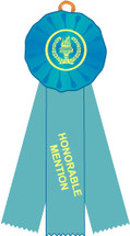 Honorable Mention Stock Three Streamer Rosette Ribbon