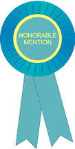 Honorable Mention Stock Place Rosette Ribbon
