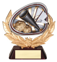 cheerleading resin trophy