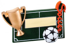 soccer resin trophy