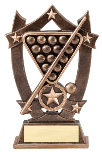 billiards resin trophy