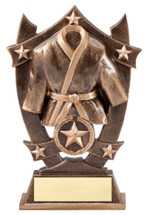 martial arts resin trophy