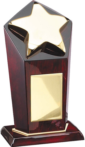 Tall Rosewood Gold Star Award
