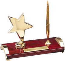Rosewood Finish Gold Star Pen Set
