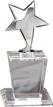 Silver Star on Crystal Base - Large