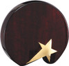 rosewood round tablet with gold star