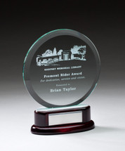 rosewood glass circle award