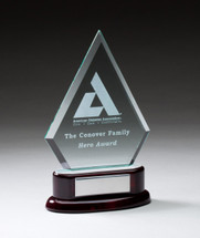 rosewood and diamond glass award