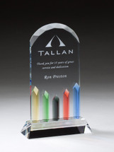 color accent glass bevel award