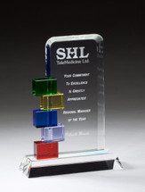 color glass accent offset award